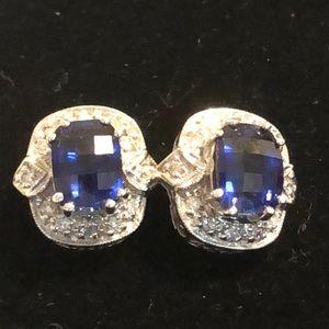 Appraised gold,sapphire,diamonds earrings